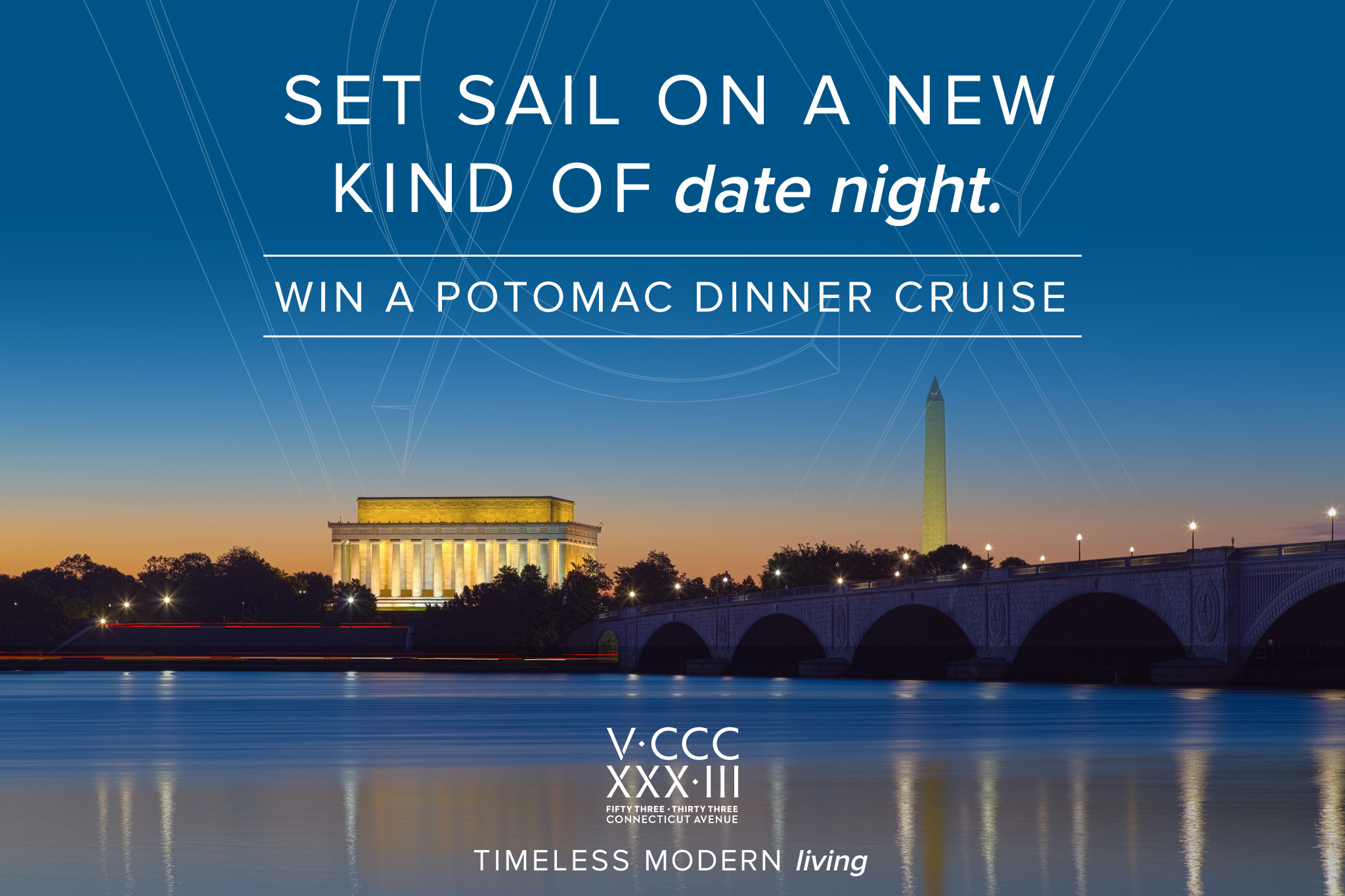 Giveaway Set Sail on a New Kind of Date Night | Chevy Chase, Washington DC | 5333 Connecticut Avenue Apartments