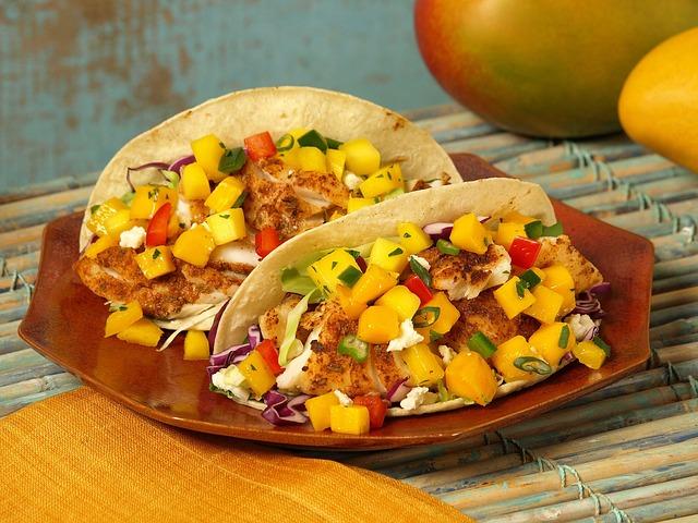 mango catfish taco